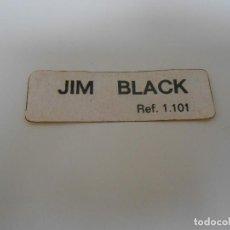 Madelman: MADELMAN ORIGINAL PEGATINA JIM BLACK REF 1101 DE LA CAJA MADEL ALFREEDOM. Lote 160260526