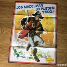 Madelman: POSTER CORSARIO DE MADELMAN EDITADO POR AGRICOMEX 2006. Lote 168113420