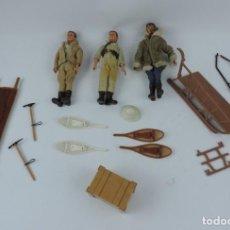 Madelman: LOTE DE 3 MADELMAN 1º GENERACION CON MUCHISIMOS ACCESORIOS, RAQUETAS, TRINEO, ETC.. TODO LO QUE SE V. Lote 170490564