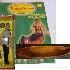 Madelman: MADELMAN CONJUNTO COMPLETO DE FASCÍCULO , EXPLORADOR Y CAYUCO INDIO. Lote 174891945