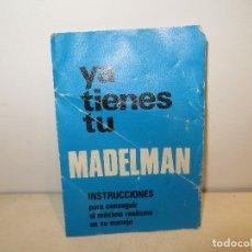 Madelman: INSTRUCCIONES MADELMAN,BARATAS. Lote 182693337