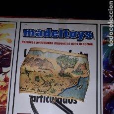 Madelman: MADELMAN. ACCESORIOS DE MADELTOYS. NUEVOS. MAPA .PISTOLA. SABLE. CATALEJO PLEGABLE. Lote 186358122