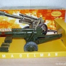 Madelman: MADELMAN CAÑON EN CAJA ORIGINAL AÑOS 70/80 COLOR VERDE MILITAR ARMY GUN. Lote 191534023