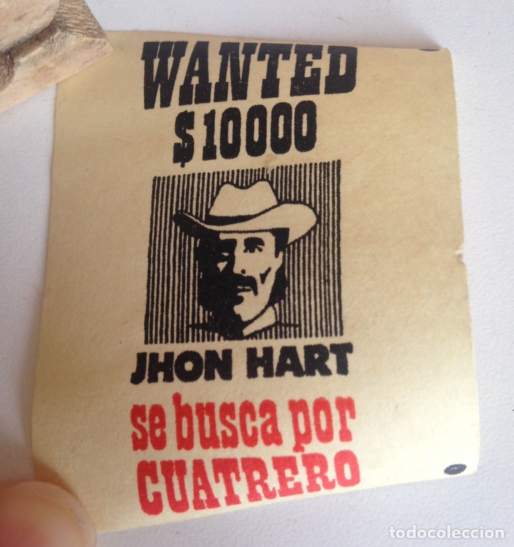 Madelman: MADELMAN CARTELES SHERIFF SE BUSCA JHON HART CARTEL CENTRAL DAKOTA PASQUINES ORIGINAL MADELMAN OESTE - Foto 4 - 194755757