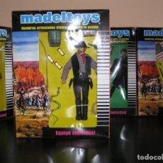 Madelman: MADELMAN MDE. LOTE CUATRERO OESTE FAR WEST. VAQUERO. EN CAJA EQUIPO INDIVIDUAL CUSTOM.. Lote 195319448