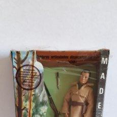 Madelman: MADELMAN TRAMPERO DE SEGUNDA EN CAJA DE CANADA DE PRIMERA-DAVY CROCKETT LICENCIA DE WALT DISNEY-RARO. Lote 206118385