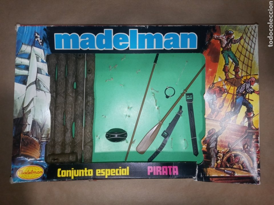 CAJA MADELMAN ORIGINAL CONJUNTO ESPECIAL PIRATA (Juguetes - Figuras de Acción - Madelman)