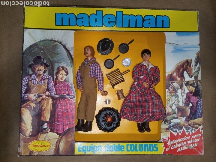 CAJA COMPLETA MADELMAN ORIGINAL EQUIPO DOBLE COLONOS (Juguetes - Figuras de Acción - Madelman)