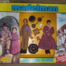 Madelman: CAJA COMPLETA MADELMAN ORIGINAL EQUIPO DOBLE COLONOS. Lote 207233591