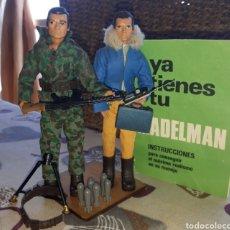 Madelman: MADELMAN. LOTE DE 2. SOLDADO TROPA.ASALTO Y PILOTO.2.GENERACION MAS COMPLEMENTOS Y CARTILLA ORIGINAL. Lote 210446728