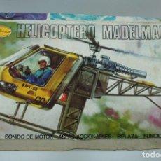 Madelman: HELICOPTERO MADELMAN CON CAJA ORIGINAL ( CON ALGUNA FALTA VER DESCRIPCIÓN ).. Lote 221548418