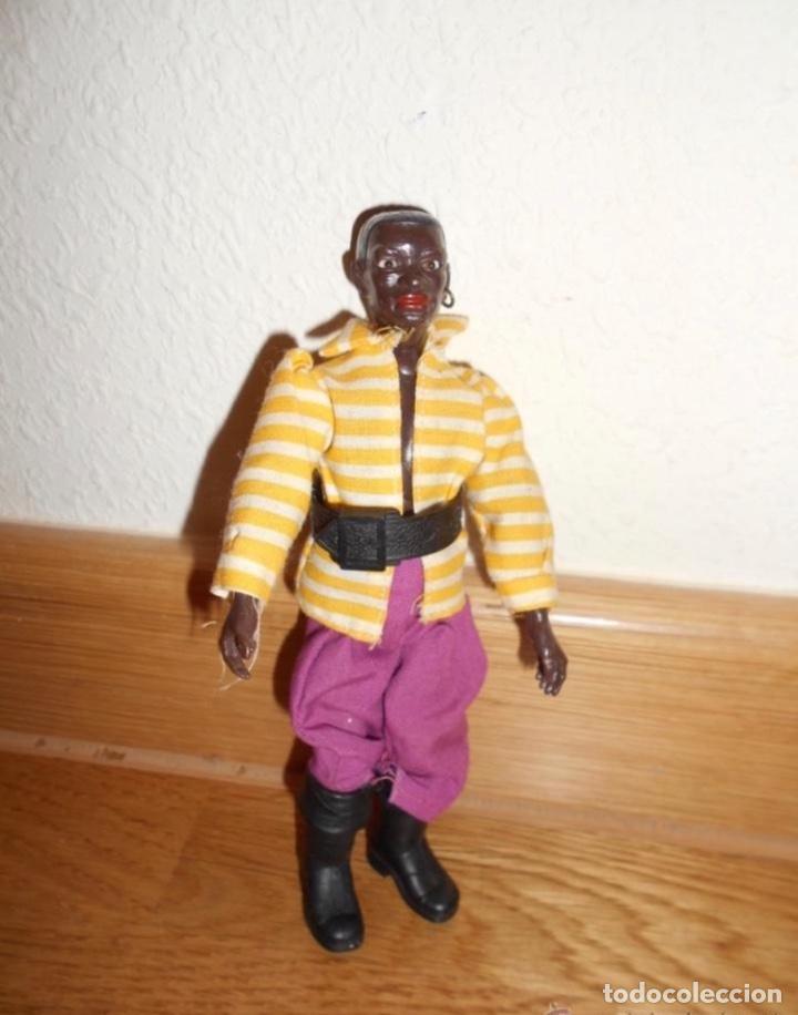 MADELMAN : MANIQUI PIRATA NEGRO JIM BLACK DE 1ª GENERACION ORIGINAL 100% AÑOS 80 (Juguetes - Figuras de Acción - Madelman)