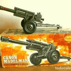 Madelman: MADELMAN CAÑON REF. 707 LANZA PROYECTILES (CON CAJA) ORIGINAL AÑOS 72-83 - MADEL SERIE MILITAR. Lote 223881563