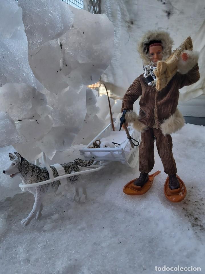 Madelman: Madelman MDE Explorador polar con trineo, perro, latigo, prismáticos, pico, saco, fardo, cuerda, etc - Foto 3 - 234942040