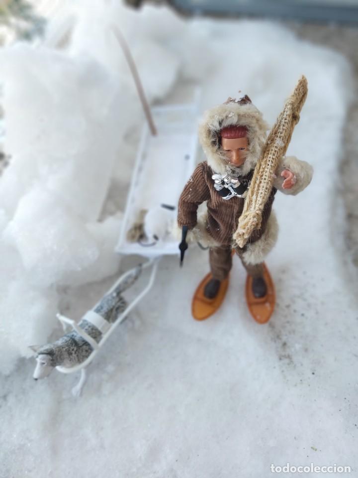 Madelman: Madelman MDE Explorador polar con trineo, perro, latigo, prismáticos, pico, saco, fardo, cuerda, etc - Foto 5 - 234942040