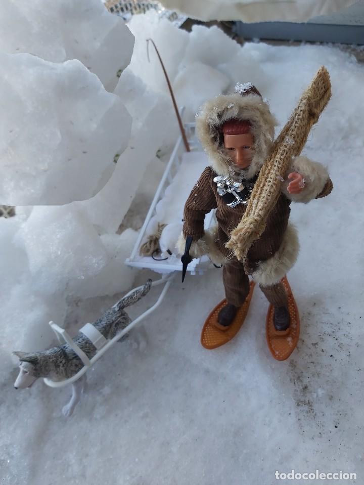 Madelman: Madelman MDE Explorador polar con trineo, perro, latigo, prismáticos, pico, saco, fardo, cuerda, etc - Foto 10 - 234942040