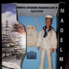 Madelman: MADELMAN MARINERO.ORIGINAL.1 GENERACION.NO JUGADO.MALETIN CON MAPA.SACO.PLASTICO ORIGINAL.. Lote 237938330