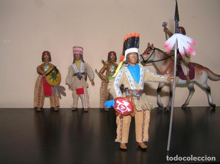 Madelman: Madelman MDE Indio. Jefe de tribu con lanza y escudo. Oeste Far West. - Foto 2 - 240621815