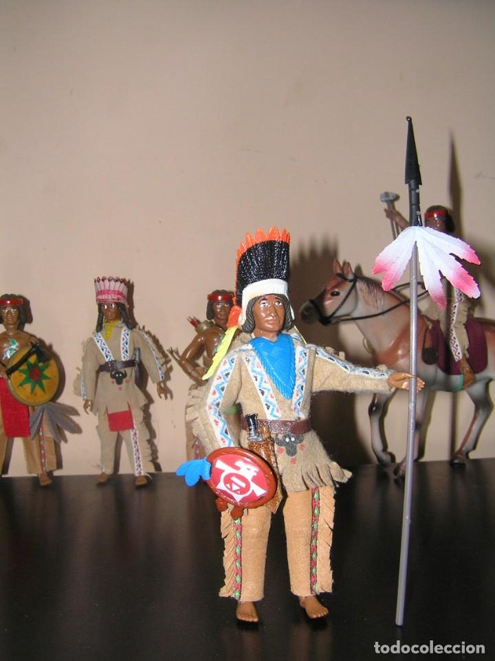 Madelman: Madelman MDE Indio. Jefe de tribu con lanza y escudo. Oeste Far West. - Foto 3 - 240621815