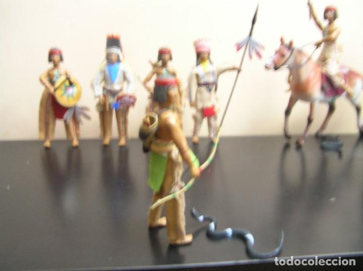 Madelman: Madelman MDE Indio. Guerrero con arco, flechas y serpiente. Oeste Far West. - Foto 2 - 240622165