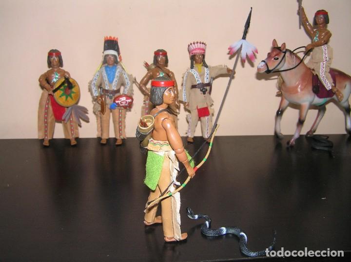 Madelman: Madelman MDE Indio. Guerrero con arco, flechas y serpiente. Oeste Far West. - Foto 3 - 240622165