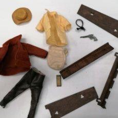 Madelman: LOTE MADELMAN SHERIFF SEGUNDA GENERACIÓN - ROPA, SOMBRERO Y ACCESORIOS - TODO ORIGINAL. Lote 241877695