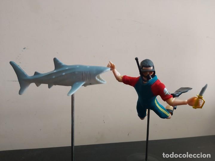 Madelman: Madelman MDE hombre-rana submarinista. Mundo submarino. Armada, Marina, con tiburon de regalo - Foto 3 - 246062285