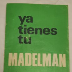 Madelman: FOLLETO MADELMAN. Lote 254286750