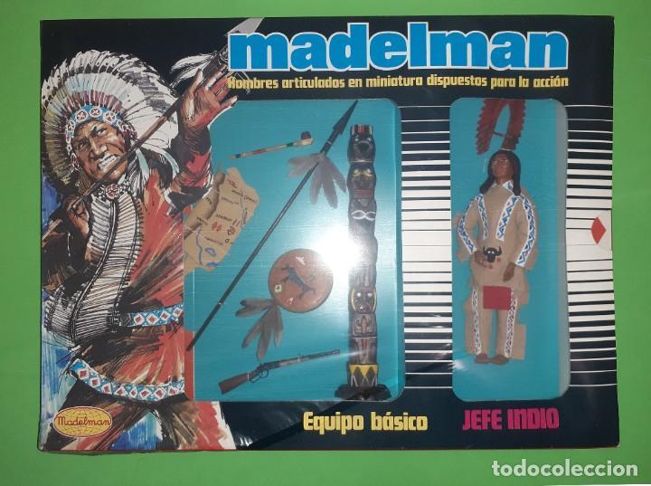 JEFE INDIO EN CAJA PRECINTADA DE ORIGEN REF. 504 MADELMAN ORIGINAL (Juguetes - Figuras de Acción - Madelman)