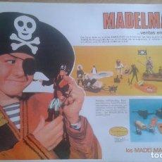 Madelman: CARTEL PUBLICITARIO DE MUÑECO MADELMAN 70/80. Lote 269047608