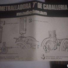 Madelman: MADELMAN ORIGINAL. DIFICILES INSTRUCCIONES DE AMETRALLADORA. 2 GENERACIÓN. VER FOTOS. Lote 271913158