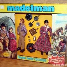 Madelman: MADELMAN EQUIPO DOBLE COLONOS - REF. 2120 - EN CAJA ORIGINAL - OESTE. Lote 284746553
