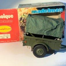 Madelman: REMOLQUE CAMPAÑA VERDE MILITAR MADELMAN REF 713. Lote 293703323