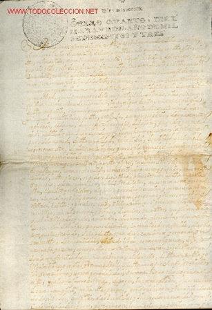 MANUSCRITO Nº 47 - S. XVIII - AÑO 1703 - (Coleccionismo - Documentos - Manuscritos)