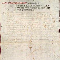 Manuscritos antiguos: MANUSCRITO Nº 75 - S. XVII - AÑO 1670 -. Lote 15351589