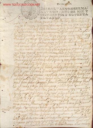 MANUSCRITO Nº 76 - S. XVII - AÑO 1694 - (Coleccionismo - Documentos - Manuscritos)