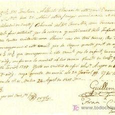 Manuscritos antiguos: DOCUMENTO MAHON MENORCA 24 AGOSTO 1802 JURATS MAHO GUILLEM OLIVES FRAN CAULES. Lote 23233786