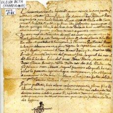 Manuscritos antiguos: CERTIFICADO DE NACIMIENTO DE MARTI VERNET . VILELLA ALTA. PRIORAT. AÑO 1786. TARRAGONA.. Lote 13983425