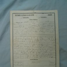 Manuscritos antiguos: DOCUMENTO MILITARIA CUBA SIGLO XIX. Lote 12946621