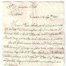 Manuscritos antiguos: AÑO 1817. CARTA MANUSCRITA PARA D. GREGORIO BIALE DE HIPÓLITO BELMÁS CON ORIGEN EN CARAVACA (MURCIA). Lote 24064054