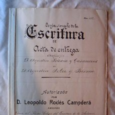 Manuscritos antiguos: DOCUMENTO ANTIGUO DE 1914 · COMPAÑÍAS DE FERROCARRILES. Lote 4812261