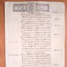 Manuscritos antiguos: AÑO 1823 - DOS SELLOS 4º 40 MARAVEDIS - PRECIOSO DOCUMETNO DE DOS HOJAS DE LORCA. Lote 16539423