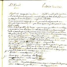 Manuscritos antiguos: BORRADOR CORRESPONDENCIA 1852 AL 1855 DE J. HUGUET CON PEDRO GIL / J. GIL ( RIUDABELLA ). Lote 26989672