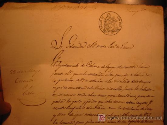 Manuscritos antiguos: MANUSCRITO AÑO 1863 CON SELLO COLOR GRIS Y SELLO iSABEL II - Foto 2 - 13242868