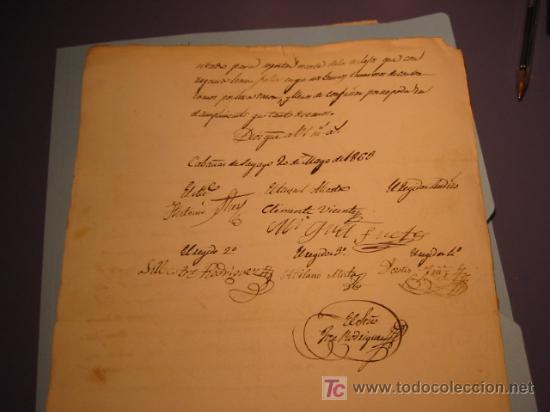Manuscritos antiguos: MANUSCRITO AÑO 1863 CON SELLO COLOR GRIS Y SELLO iSABEL II - Foto 3 - 13242868