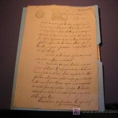 Manuscritos antiguos: MANUSCRITO AÑO 1891 SELLO VERDE ÉPOCA ALFONSO XIII. Lote 17525539