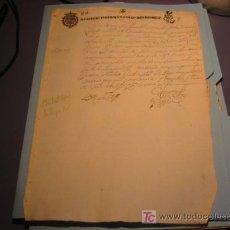 Manuscritos antiguos: MANUSCRITO AÑO 1649 CON SELLO REINANDO FERNANDO VI. Lote 11999080