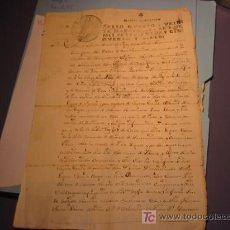Manuscritos antiguos: MANUSCRITO AÑO 1757 CON SELLO DE FERNANDO VI. Lote 24067831