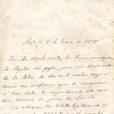 Manuscritos antiguos: CARTA MANUSCRITA DE UN HERMANO A OTRO EXPLICANDO SITUACIÓN FINANCIERA - FECHADA EN 1875 - MADRID . Lote 24399940
