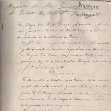 Manuscritos antiguos: 1899 CASTELLON. PARTICION HERENCIA MIGUEL FORES BREVA Y JOSEFA CASTELLET FORES. DOCUMENTO MANUSCRITO. Lote 26213120